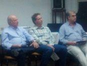 da esquerda pra direita: Milton J.Pasquini -Presidente do Sind Rural de Osvaldo Cruz, Angelo Munhoz Benko, presidente do Sind Rural de Santo Anastácio e diretor da FAESP e Dr. Auad, presidente da Usirop e do Sindicato Rural de Parapuã.
